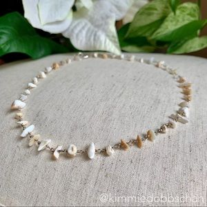 Handmade White Opal Necklace